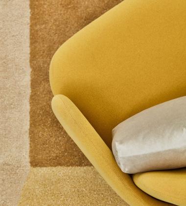 Dywan wełniany ISO RECTANGLE 260x162 Złoto-Brązowy