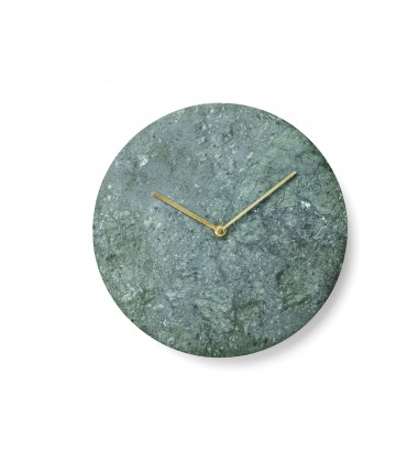 Zegar ścienny Wall Marble Clock 30 cm Zielony Marmur