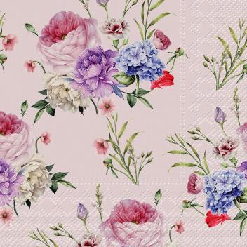 Serwetki papierowe w kwiaty 33x33 TAT Tapisserie Rose