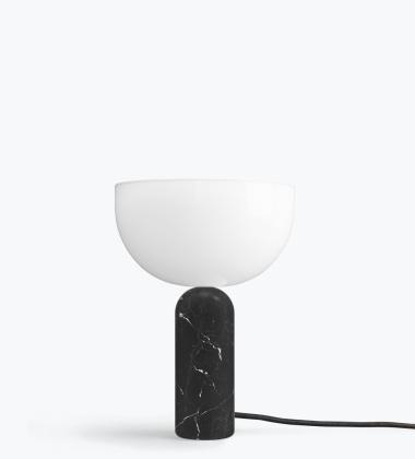 Lampa stołowa Kizu Marble Small H35 cm Czarny Marmur