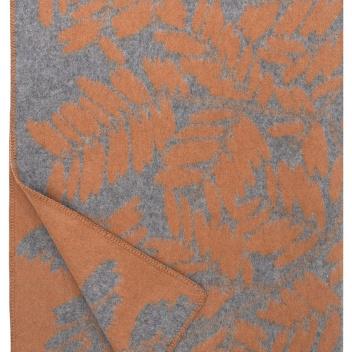 Koc wełniany VERSO 130x180 Rdzawo-Szary