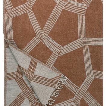 Koc wełniany HIMMELI 140x180 Terraccota