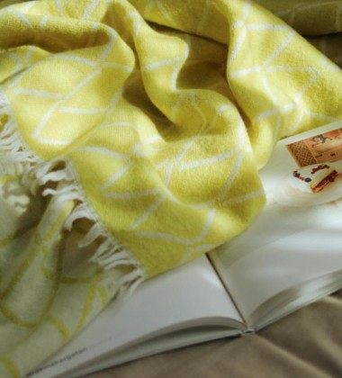 Koc Eskimo Wool 140x185 Pistacjowy