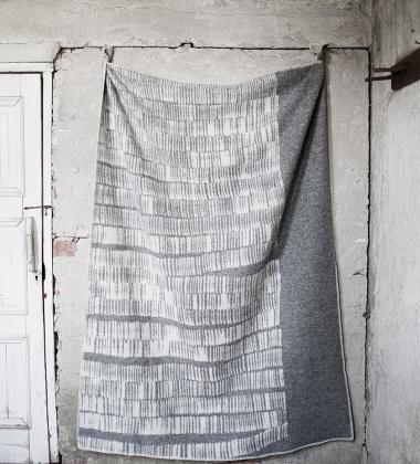 Koc Uitto Wool 130x180 Szaro-Biały