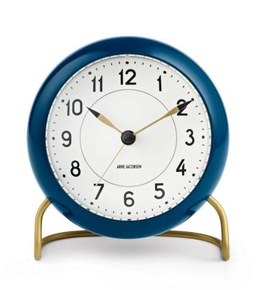 Zegarek Budzik AJ Station Table Clock Niebiesko-Złoty