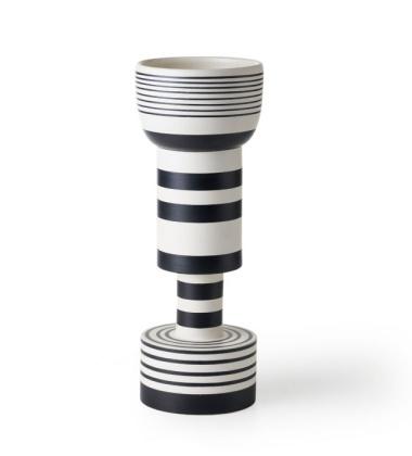 Wazon Ettore Sottsass Vase Calice H47 Bianco-Nero