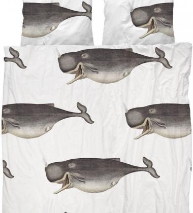Pościel bawełniana w wieloryby 200x200 KNITTED WHALE