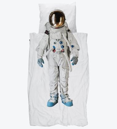 Pościel bawełniana z astronautą 140x200 ASTRONAUT