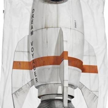 Pościel bawełniana z rakietą 140x200 ROCKET