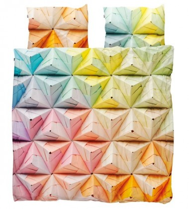 Pościel bawełniana w origami 200x200 GEOGAMI