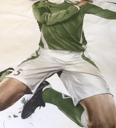 Pościel bawełniana z piłkarzem 140x200 GREEN SOCCER CHAMP