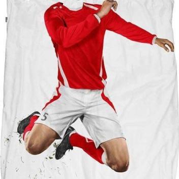 Pościel bawełniana z piłkarzem 140x200 RED SOCCER CHAMP