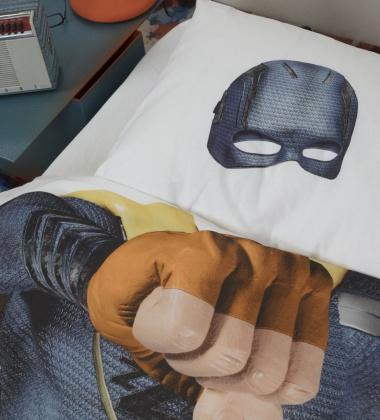 Pościel bawełniana z Superhero 140x200 BLUE SUPERHERO