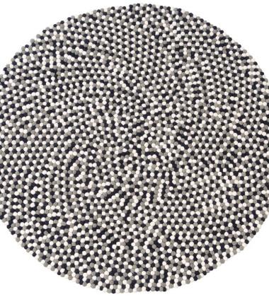 Dywan Confetti Wool 150 cm Czarno-Biało-Szary