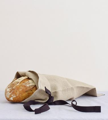 Lniany worek na pieczywo  51x28 BREAD BAG FLAX