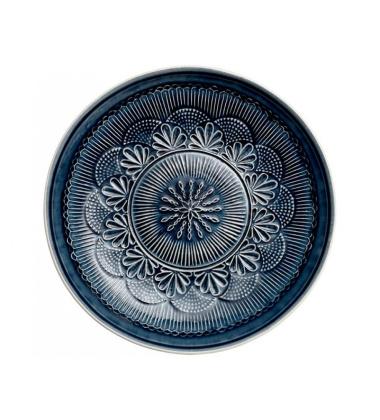 Talerz z wzorem z porcelany Nadia 33,5 cm Granatowy