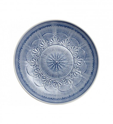 Talerz z wzorem z porcelany Nadia 33,5 cm Niebieski