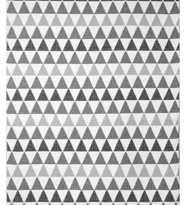 Dywan z tworzywa w romby TRIBUS 140x200 Szaro-Czarny
