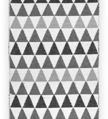 Dywan-Chodnik z tworzywa w romby TRIBUS 70x200 Szaro-Czarny