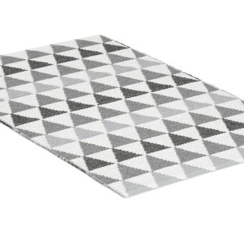 Dywanik z tworzywa w romby TRIBUS 70x120 Szaro-Czarny
