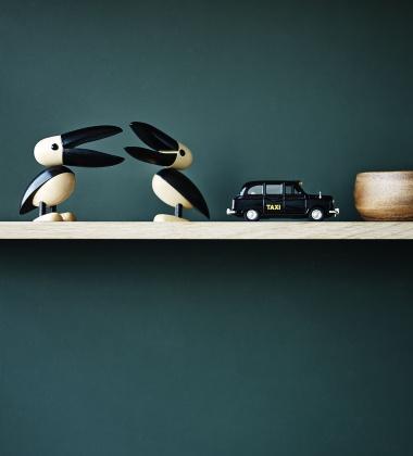 Drewniany pelikan H 11 cm Gunnar Pelican Dąb