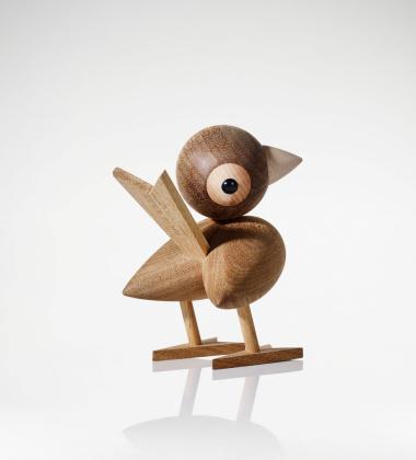 Drewniany ptaszek H 12 cm Gunnar Sparrow Kasztan tropikalny