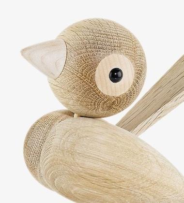 Drewniany ptaszek H 12 cm Gunnar Sparrow Dąb