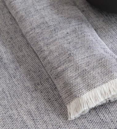 Obrus lniano-bawełniany BLEND 140x240 Niebieski