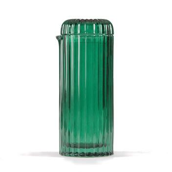 Karafka z zielonego szkła SAGURO 1L Kaktus