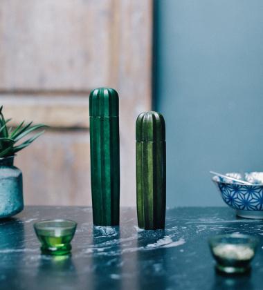 Komplet młynków CACTI GREEN WOOD Set2 Kaktusy
