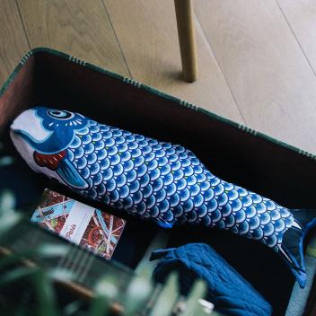 Turystyczny worek na brudy ryba KOINOBORI Niebieski