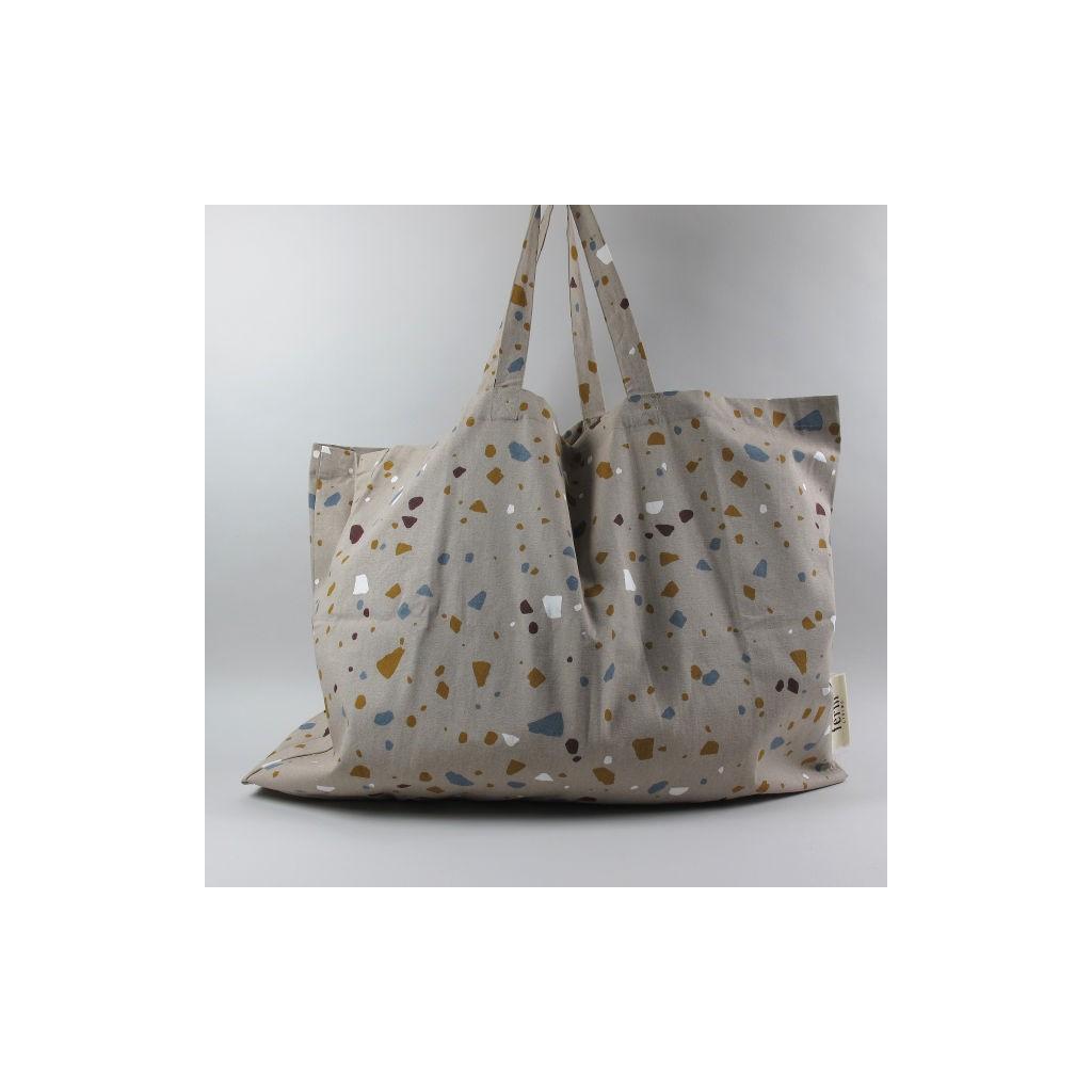 df7f493f46 Duża torba z uszami Tote Bag Terrazzo XL Szara. Ferm Living