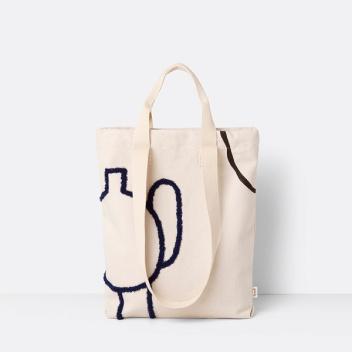 Torba na zakupy z uszami MIRAGE Tote Bag Czarno-Niebieska