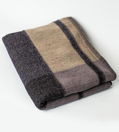 Koc z dzianiny Medley Knit Blanket 120x160 Granatowy