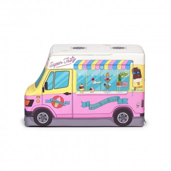 Puf Icecream Truck 45x30x70 Różowy