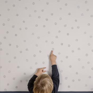 Tapeta z wzorem jeżyków HEDGEHOG 53x1000 cm Szara