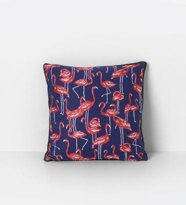 Poduszka z wzorem Salon Cushion FLAMINGOS 40x40 Czerwona