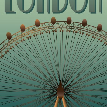 Poster 30x40 LONDON EYE By ViSSEVASSE