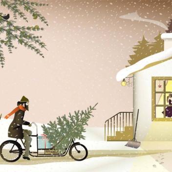 Kartka świąteczna READY FOR CHRISTMAS 10,5x15