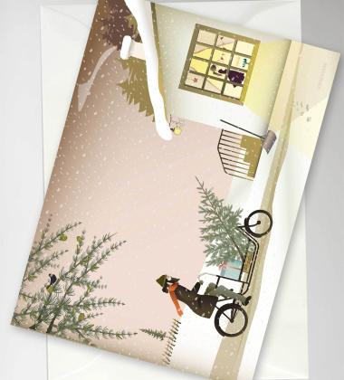 Kartka świąteczna 10,5x15 READY FOR CHRISTMAS By ViSSEVASSE