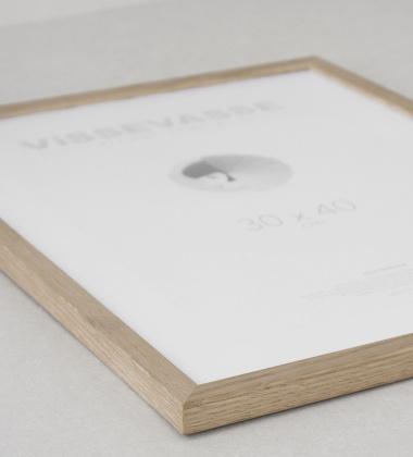 Ramka drewniana z plexiglas Vissevasse 30x40 Dąb