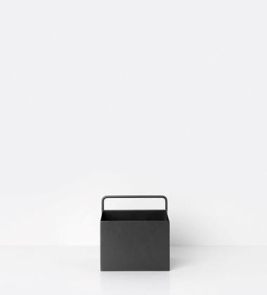 Wiszący metalowy pojemnik 15,6x15,6 Czarny