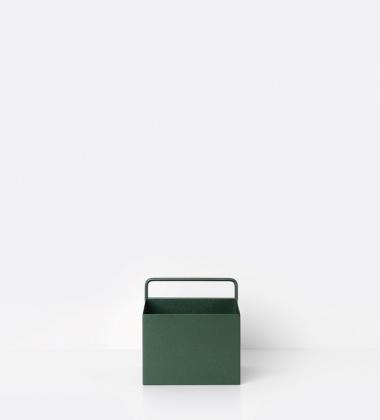 Wiszący metalowy pojemnik 15,6x15,6 Zielony