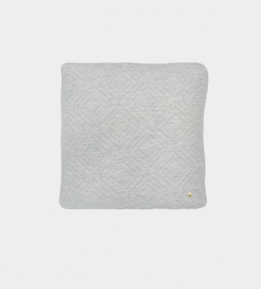 Poduszka pikowana QUILT Cushion 45x45 Szara