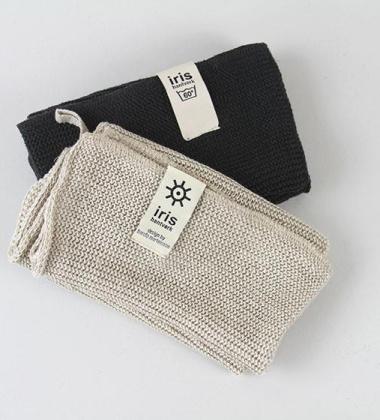 Ręcznik z bawełnianej dzianiny 30x30 DARK GREY