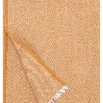 Koc-Narzuta z wełny SARA 140x180 Rdzawy
