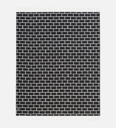 Koc Brick 130x180 Czarno-Biały