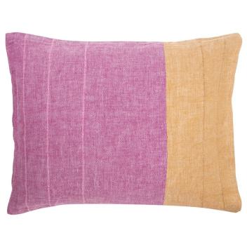Poszewka lniana na poduszkę TSAVO 50x60 Różowo-Pomarańczowa
