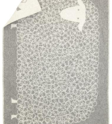 Kocyk dziecięcy KILI Wool 90x130 Szary
