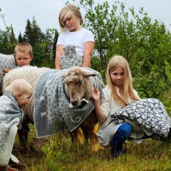 Kocyk dziecięcy KILI Wool 65x90 Szary